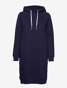 Ladies' hoodie dress, Collari - DARK BLUE