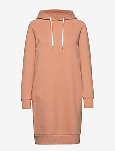 Ladies' hoodie dress, Collari - ORANGE