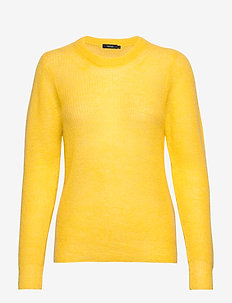 Ladies knit sweater, Kuura - YELLOW