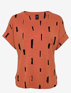 Ladies blouse, Palikka - t-shirts - red