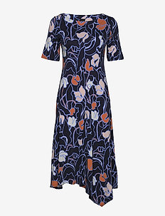 Ladies dress, Iiris - robes midi - dark blue