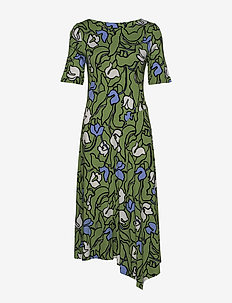 Ladies dress, Iiris - robes midi - green