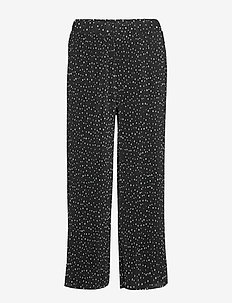 Ladies trousers, Helinä - pantalons droits - black