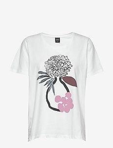 Ladies t-shirt, Maljakko - t-shirts med tryk - white