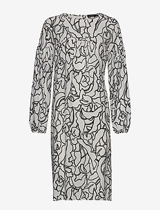 Ladies dress, Pikku Iiris - robes midi - black-white