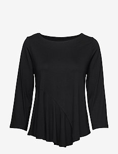 Ladies blouse, Lulu - long-sleeved tops - black