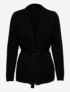 Ladies knit cardigan, Villis - swetry rozpinane - black