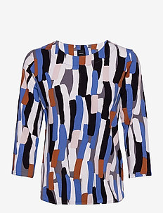 Ladies blouse, Rytmi - long sleeved blouses - multi-coloured