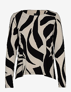 Ladies blouse, Kaisla - long-sleeved tops - black