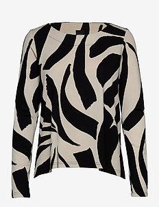 Ladies blouse, Kaisla - pitkähihaiset t-paidat - black