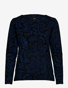 Ladies blouse, Floora - langærmede toppe - black