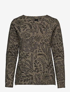 Ladies blouse, Floora - langærmede toppe - olive green