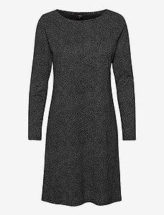 Ladies big shirt, Pilkut - midi dresses - black