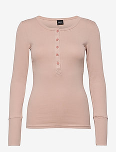 Ladies shirt, Siro - pitkähihaiset t-paidat - light peach