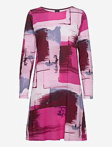 Ladies big shirt, Maalaus - nattlinnen - multi-coloured