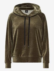 Ladies shirt with hood, Valeria - góry - olive green