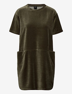Ladies dress, Valeria - short dresses - olive green
