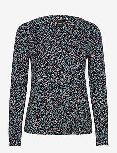 Ladies blouse, Nomparelli - long-sleeved tops - blue-toned