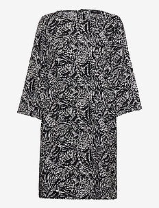 Ladies dress, Runotar - robes midi - black and white
