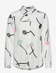 Ladies shirt, Vuokko - long sleeved blouses - natural white