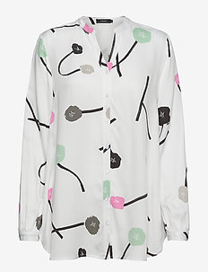 Ladies shirt, Vuokko - blouses met lange mouwen - natural white