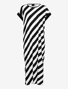 Ladies short nightgown, Kulma - nattlinnen - black and white