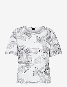 Ladies t-shirt, Narunen - nachtkleding & lounge wear - black-white