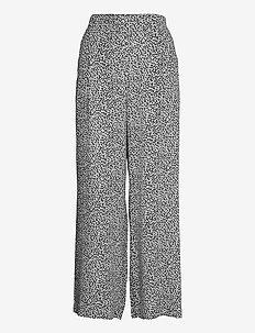 Ladies trousers, Silmu - uitlopende broeken - black-white