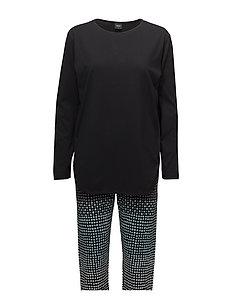 Ladies pyjamas, Usva - BLACK