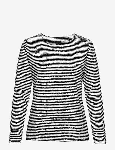 Ladies blouse, Aprilli - langærmede toppe - black and white