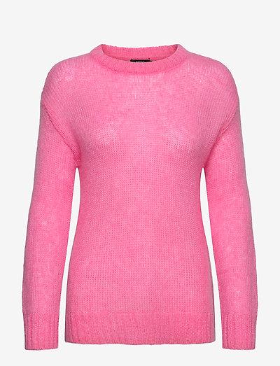 Ladies knit sweater, Tua - trøjer - pink
