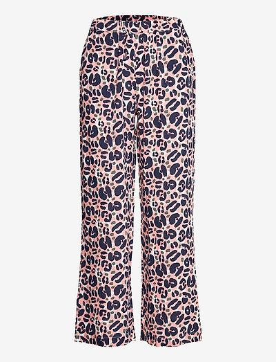 Ladies trousers, Lulu - bukser med brede ben - light pink