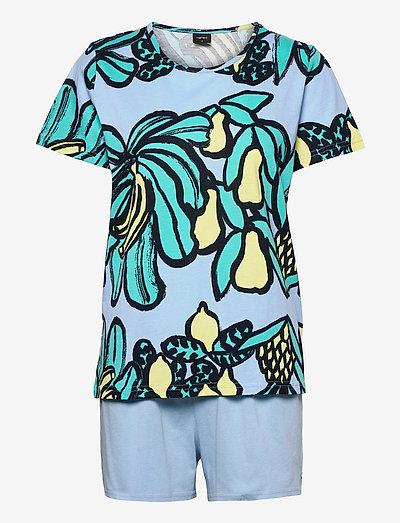 Ladies shorts pyjamas, Samba - pyjamas - blue