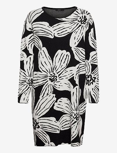 Ladies dress, Rosa - natkjoler - black-white