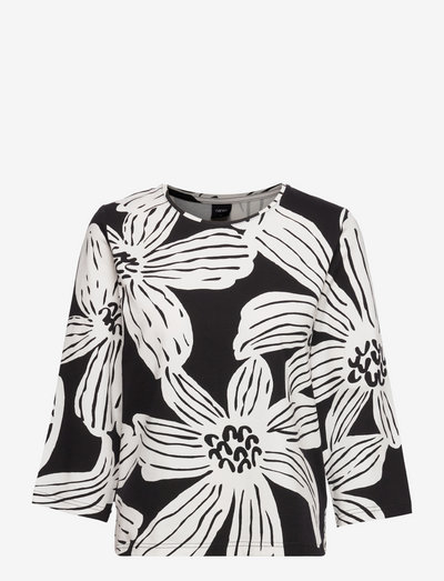 Ladies blouse, Rosa - langærmede bluser - black-white