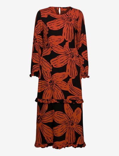 Ladies dress, Rosa - hverdagskjoler - black-orange
