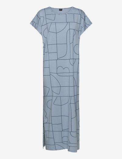 Ladies long nightgown, Veistos - natkjoler - blue