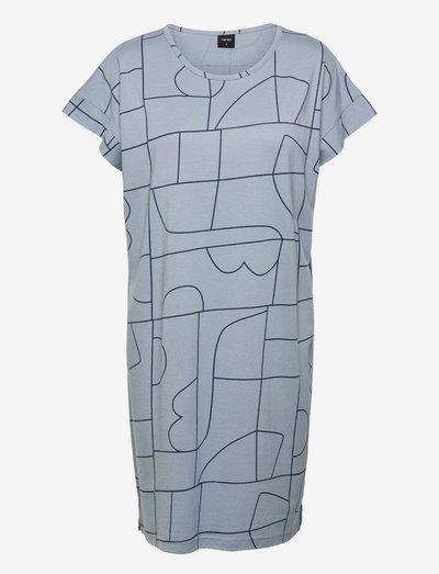 Ladies big shirt, Veistos - natkjoler - blue