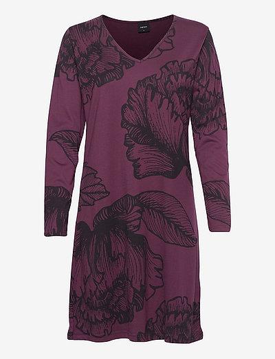 Ladies big shirt, Aurora - natkjoler - purple