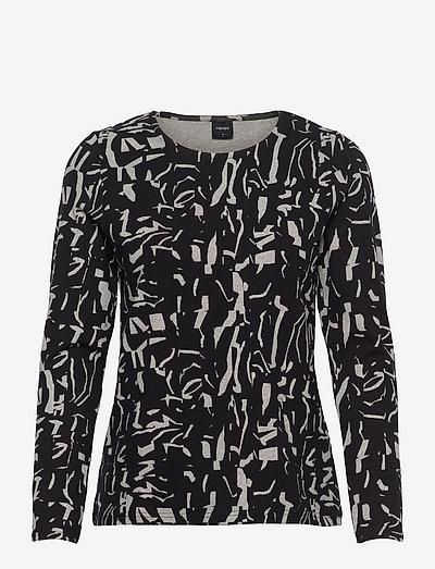 Ladies blouse, Mineraali - overdele - black-white
