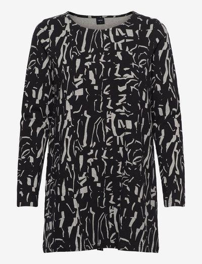 Ladies tunic, Mineraali - overdele - black-white