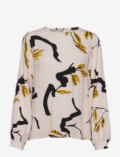 Ladies blouse, Oksisto - langærmede bluser - beige