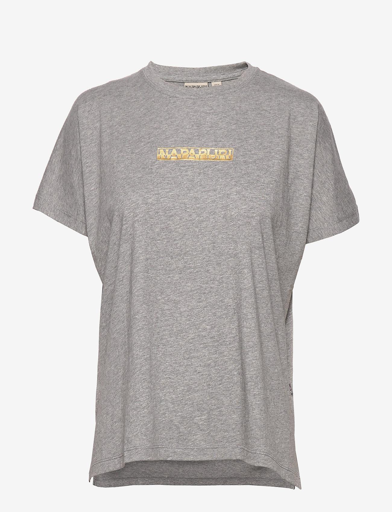 Napapijri - SIONE - t-shirts - grey melange - 0