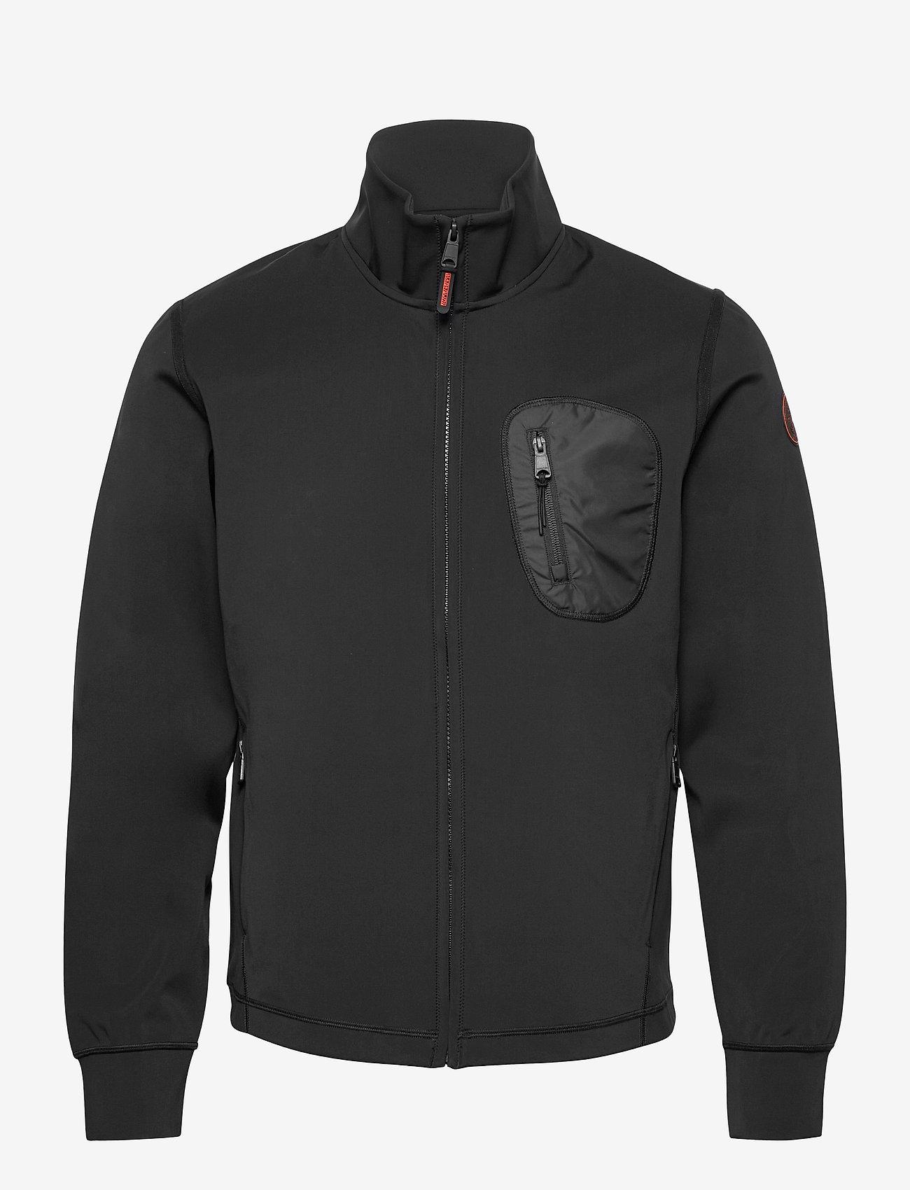 Napapijri - TERIN FZ - basic-sweatshirts - black - 0