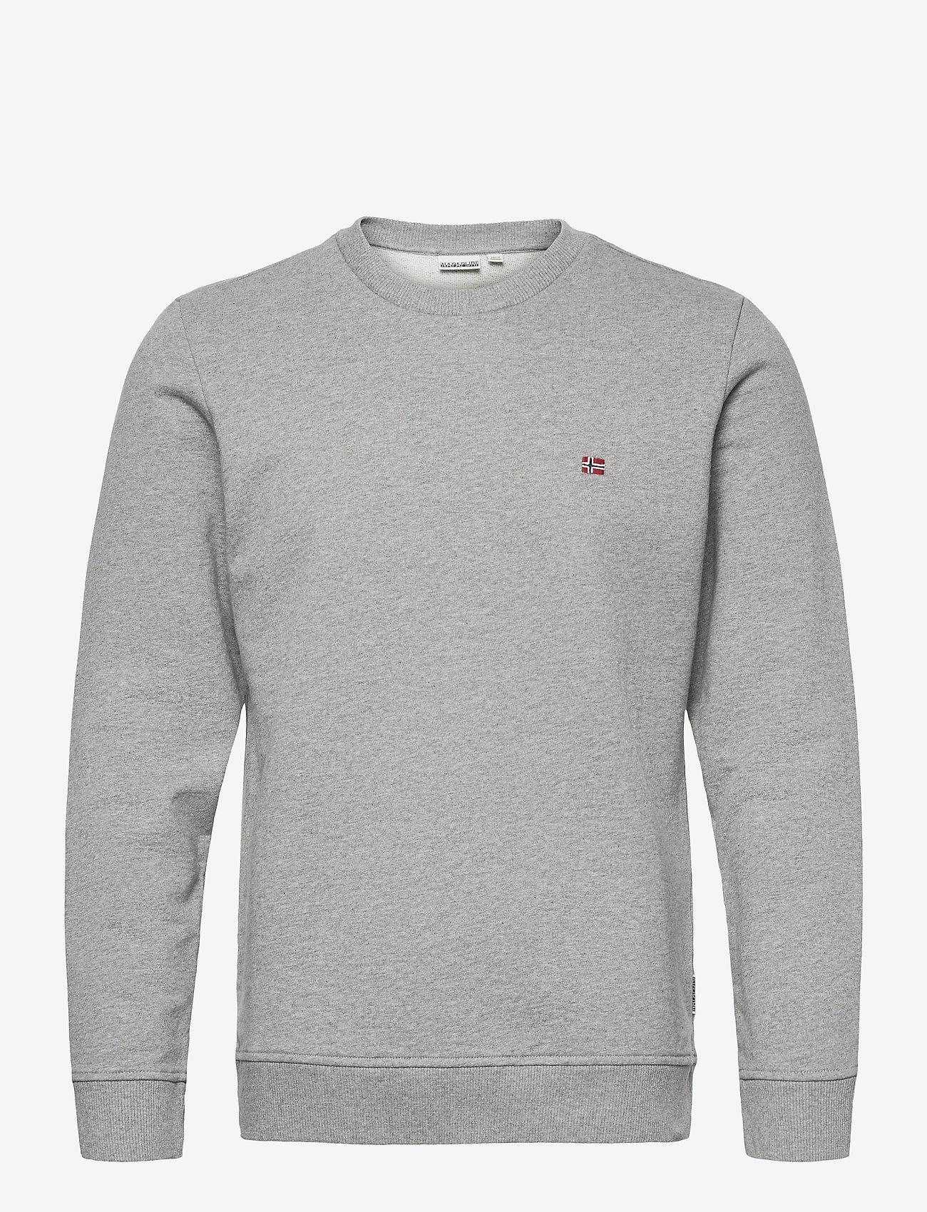 Napapijri - BALIS CREW - tricots basiques - med grey melange - 1