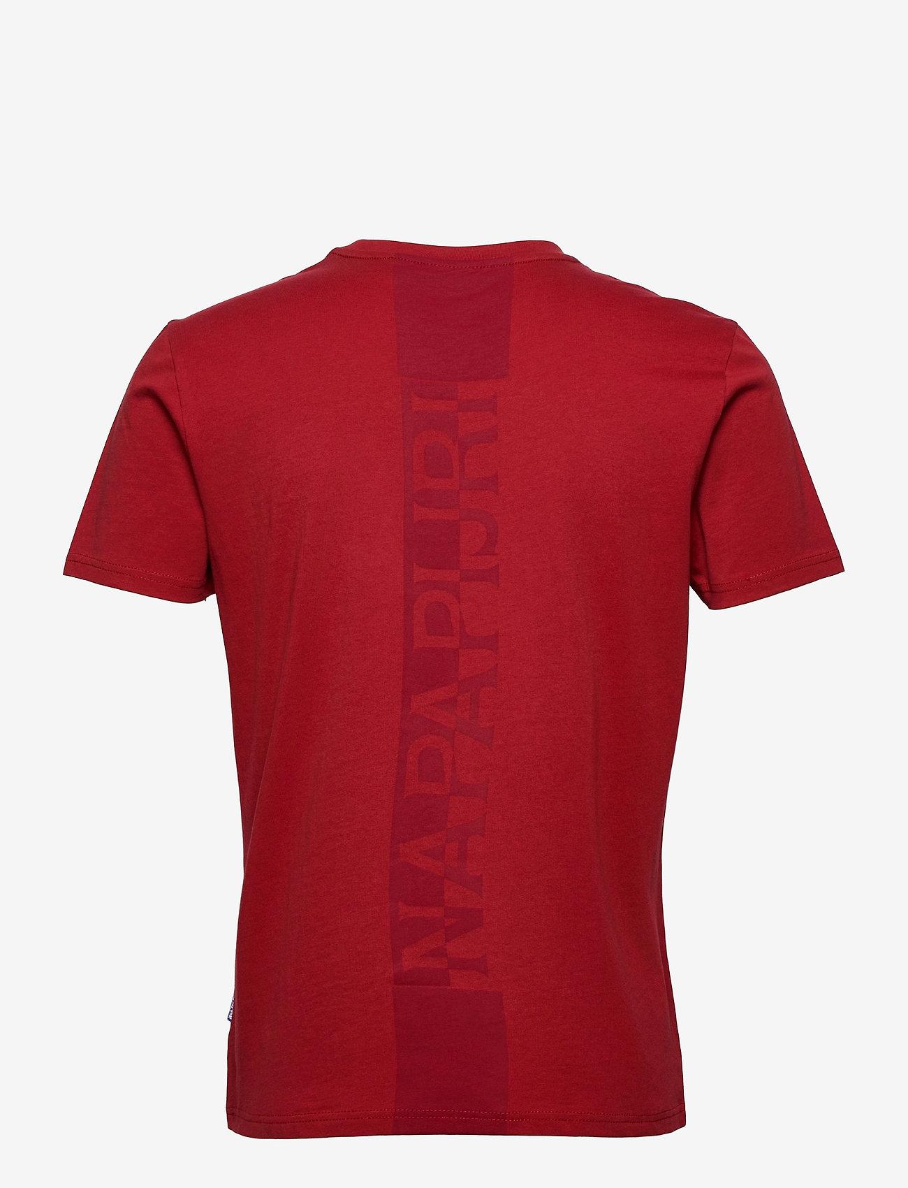 Napapijri - S-SURF SS - t-shirts basiques - old red - 1