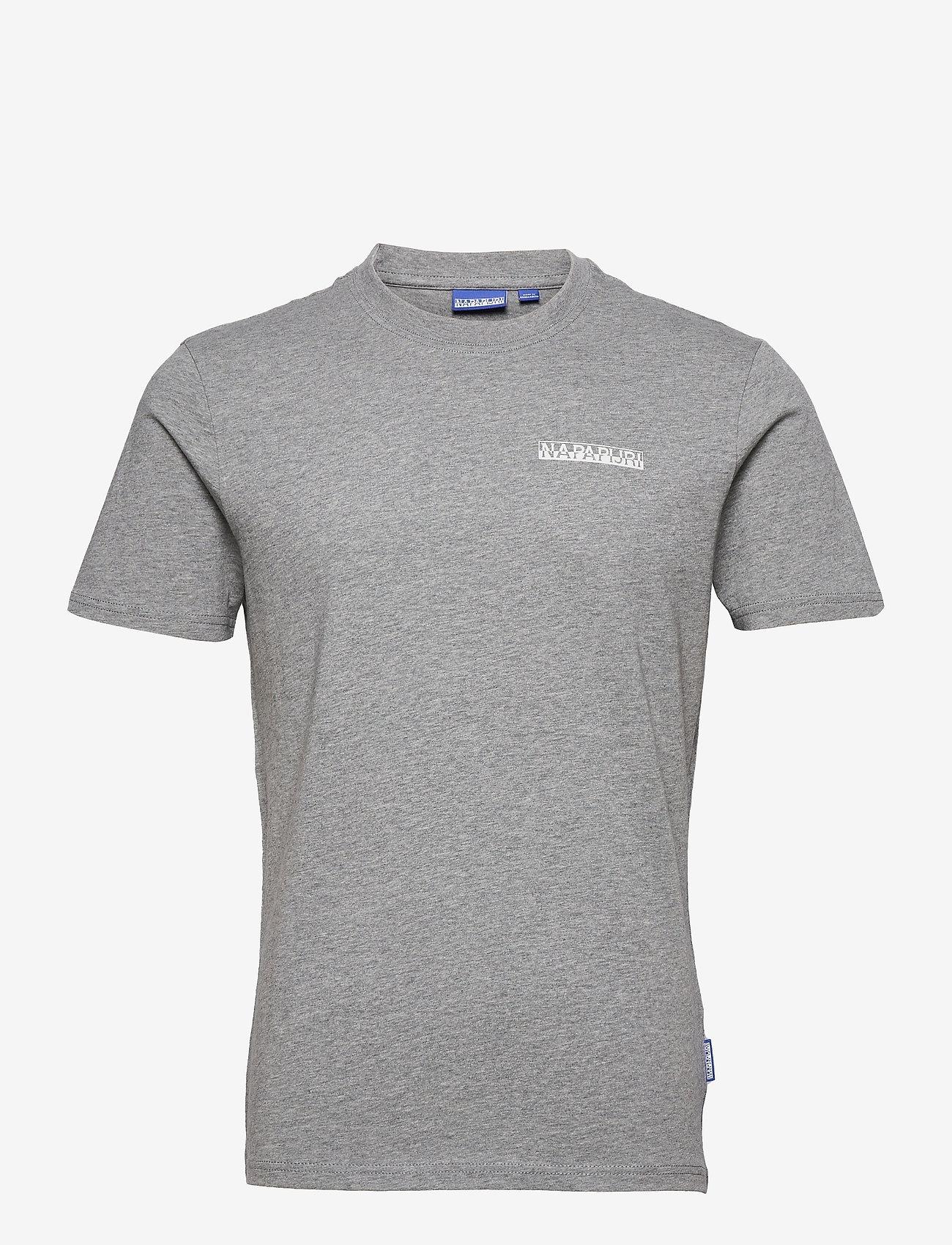 Napapijri - S-SURF SS - basic t-shirts - grey melange - 0