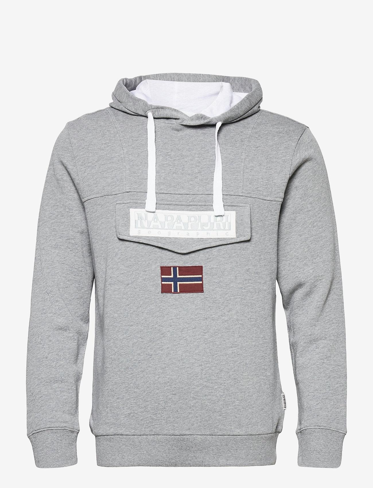 Napapijri - BURGEE SUM 3 - hoodies - med grey melange - 0