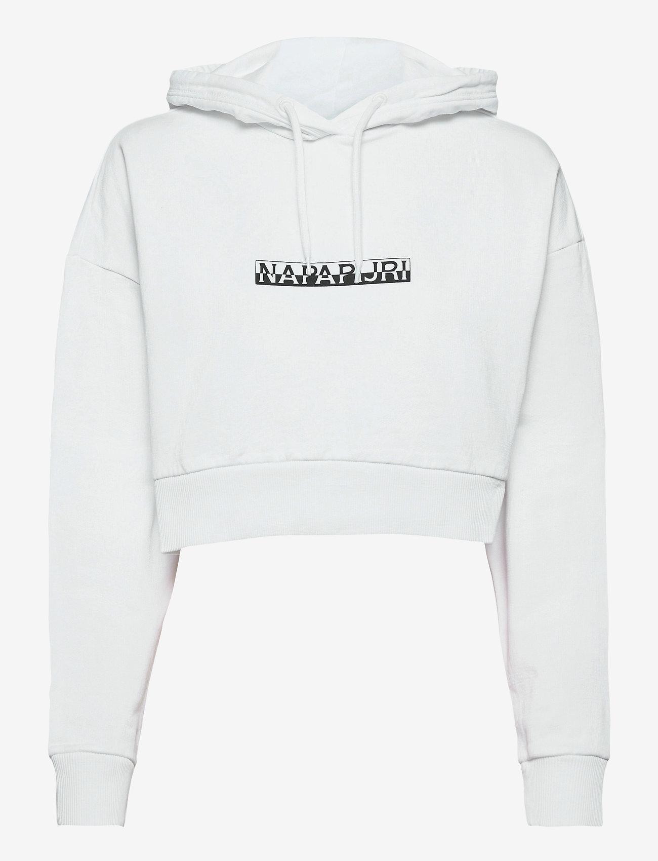 Napapijri - B-BOX CROPPED H S - sweatshirts & hættetrøjer - bright white - 0