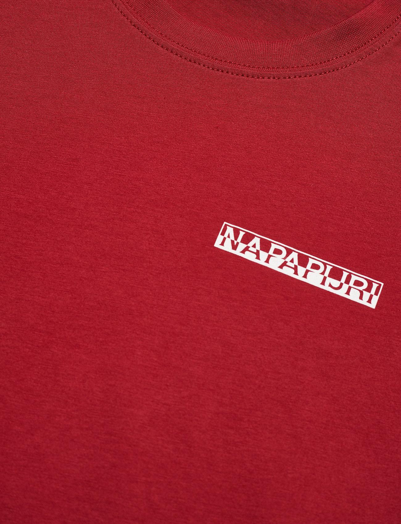 Napapijri - S-SURF SS - t-shirts basiques - old red - 2